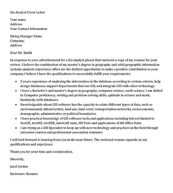 sample cover letter for attachment application