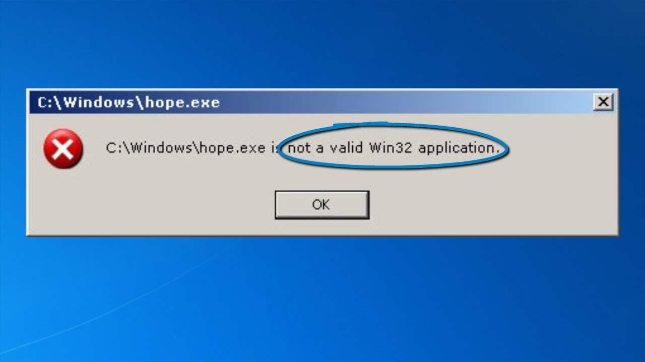 is not a valid 32 bit application
