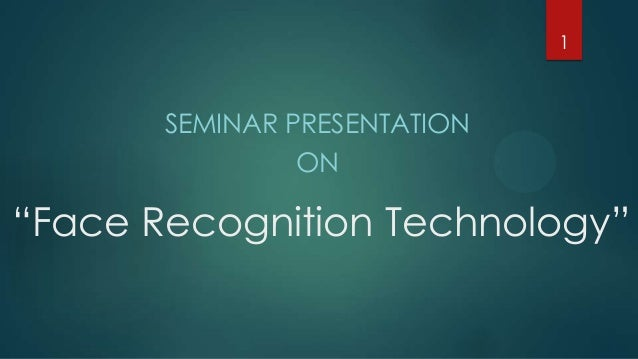 applications of face recognition ppt